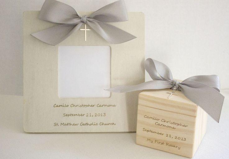 Baptism Gift from Godparents Christening Gift Baptism Wood Block and Baptism Frame set with sterling silver cross NAS(Etsy のnaturallyaspenより) https://www.etsy.com/jp/listing/191464263/baptism-gift-from-godparents-christening