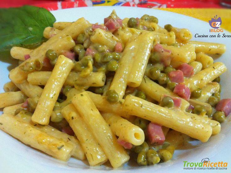 Ziti alla besciamella, piselli e prosciutto  #ricette #food #recipes