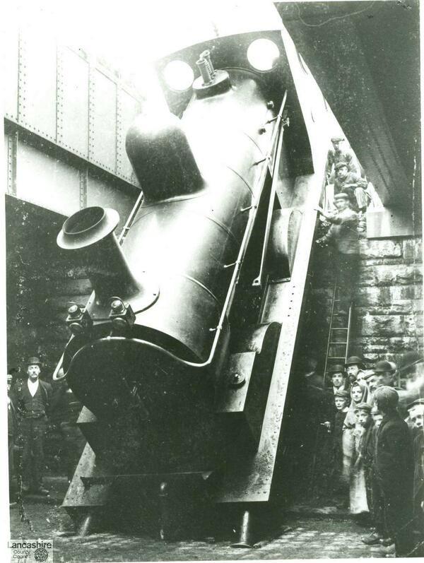 @lanchistory 26 Sep #Lancslines images: Accrington Rail Accident 26 Sept 1899 No one was injured!?