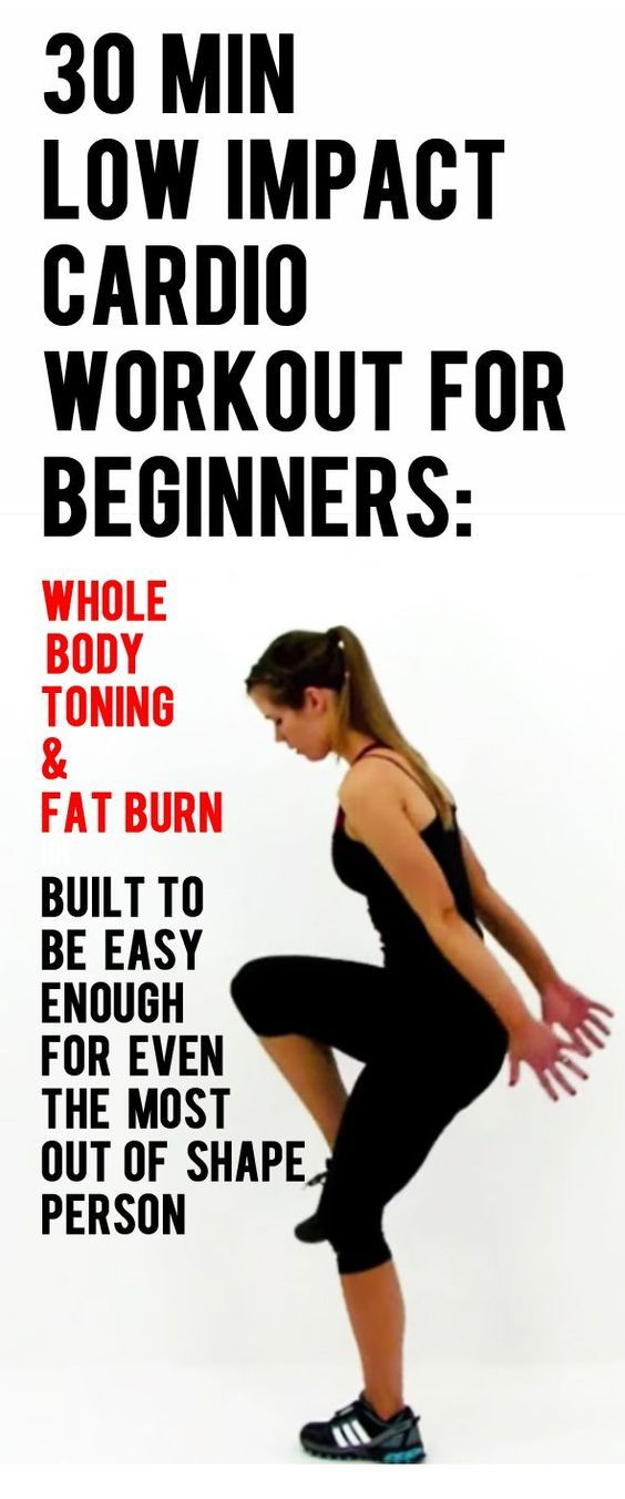 Minute low impact cardio workout for beginners