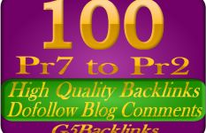 blog 100 high quality blog comments backlinks on actual PR7 to PR2
