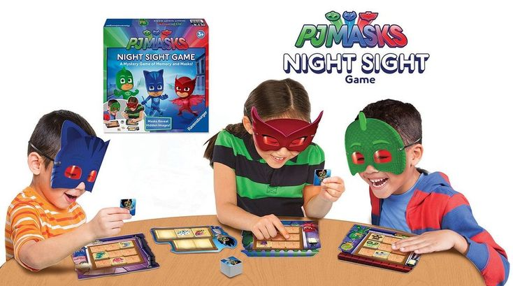 PJ Masks Night Sight Game Interactive Party Children Boy Girl Educational Play