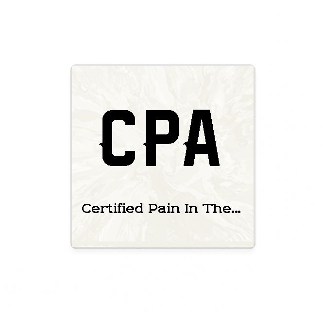CPA Accountant Stone Coasters