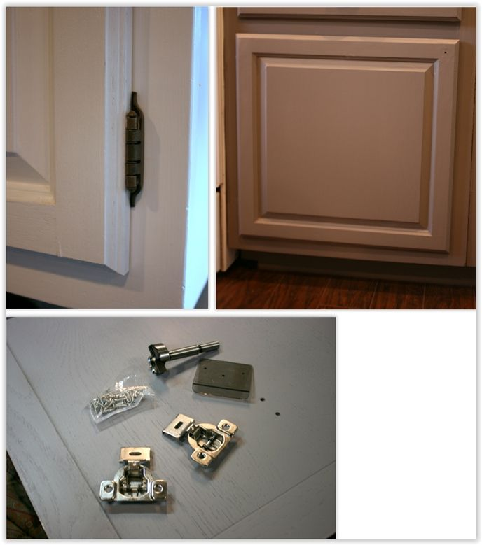 How To Install Hidden Overlay Hinges ... when updating your cabinets to a Shaker look, you should add hidden hinges for a clean look ............. #DIY #kitchen #hinges #overlayhinges #Shaker #cabinet #howto #tips #decor #crafts