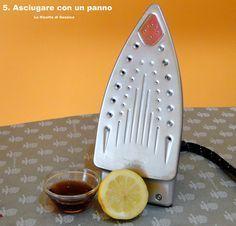 pulire facilmente naturalmente ferro stiro
