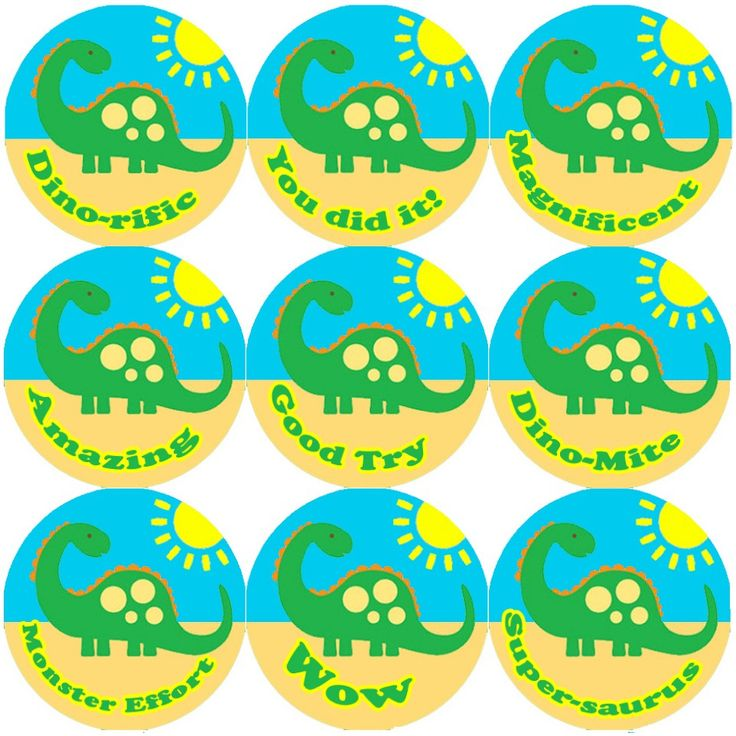 <p>These Big Green Dinosaur reward stickers are perfect to make a big impression on young learners and can be used with any Reward System.</p>
