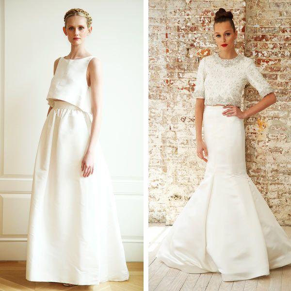 свадебные платья кроп-топ современные модели