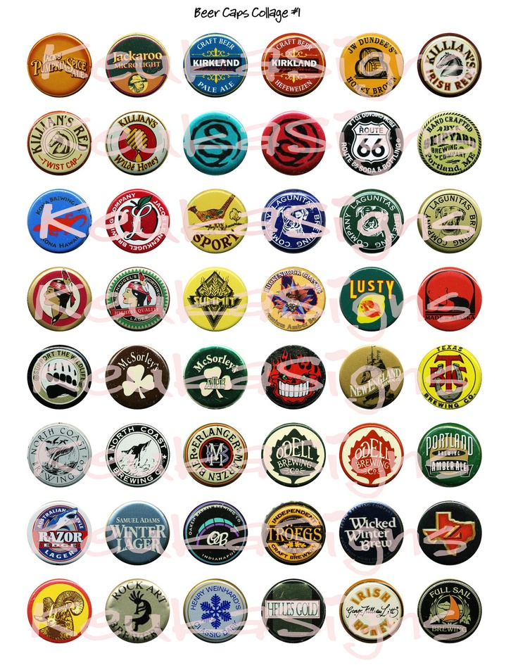 1000 images about beer bottle caps on pinterest beer for Pictures of bottle caps