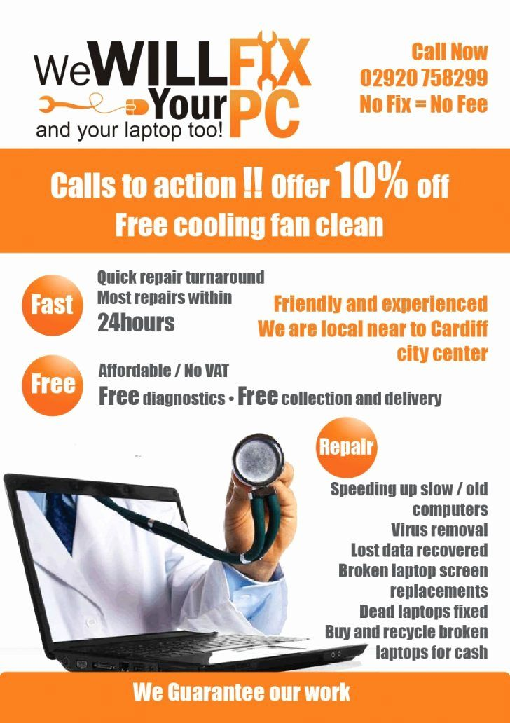 Free Computer Repair Flyer Template Elegant Puter Repair Advertisement Samples Professional Hi And Flyer Template Flyer Computer Repair