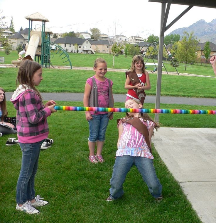 Doing a twist on bridging to the next GS level,  girls limbo'd to the next level.