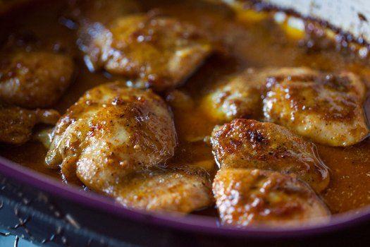 Maple Mustard #Chicken w/ Cauliflower @artfulgourmet