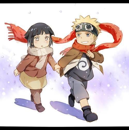 Naruto y hinata de niños