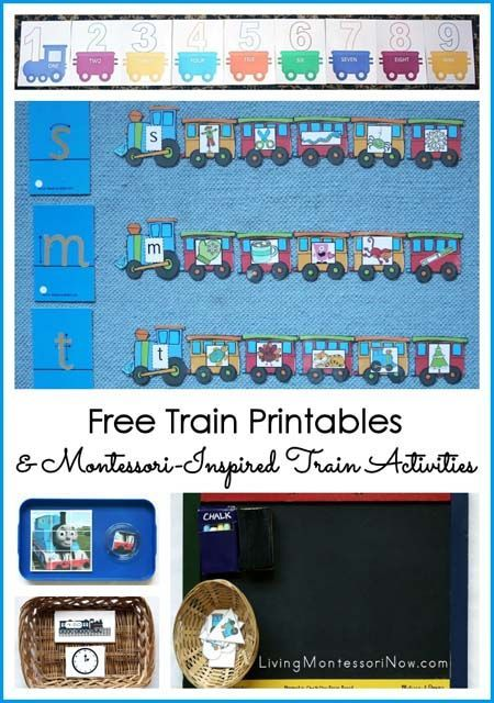 If you have a train lover (or a class with a number of them), you'll find lots of fun, free train printables and Montessori-inspired train activities for them here. There are train printables and activities for any season along with Polar Express printables and activities for Christmas.