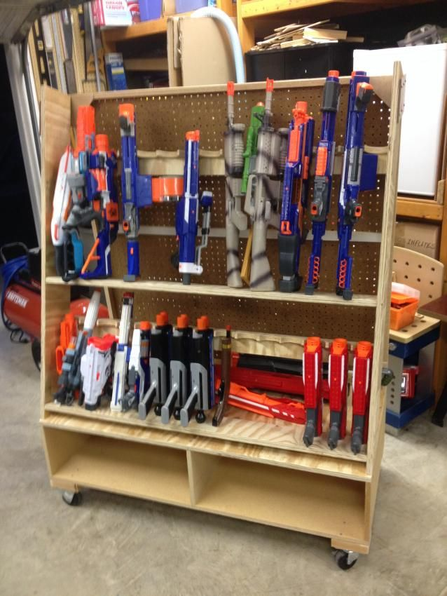 Pegboard nerf wall google search kids pinterest for Gun room design ideas for houses