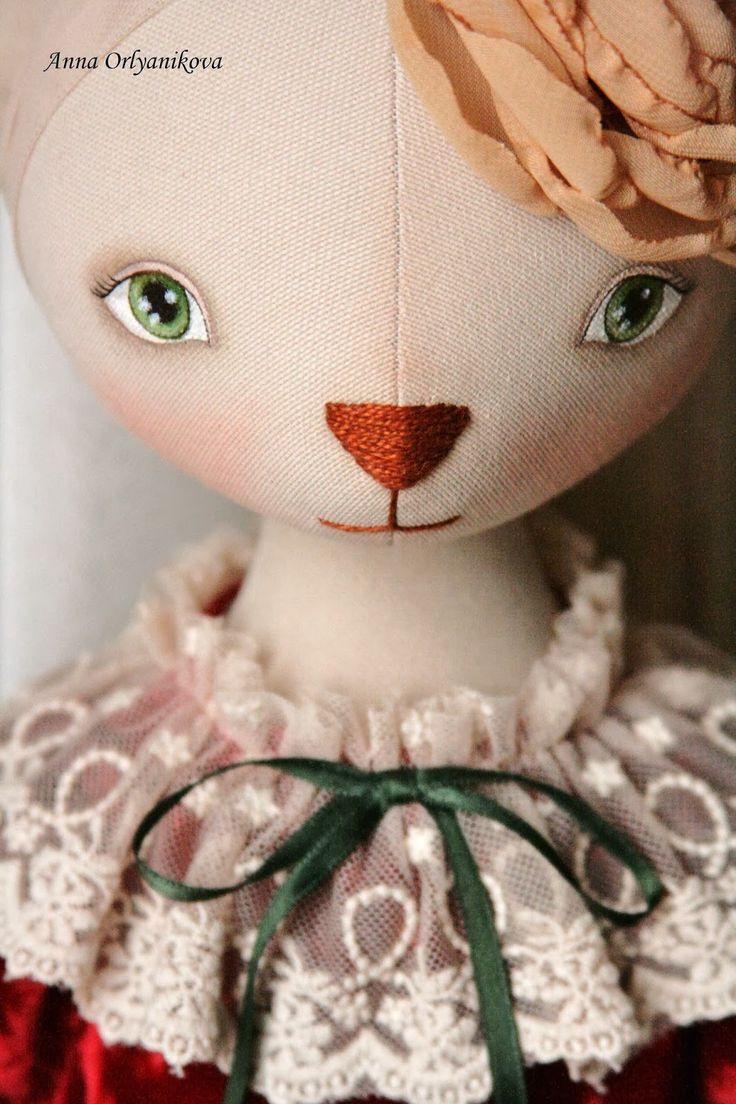 Куклы Анны Орляниковой: Кошка Дашенька