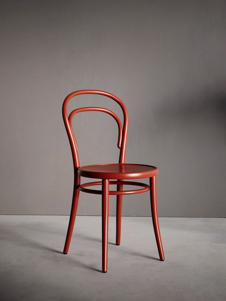Chair No 14 Wood Red Berry - Wood seat