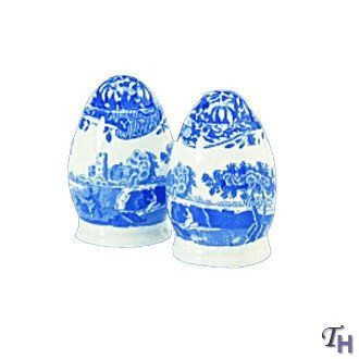 Spode Blue Italian L/S Salt and Pepper by Spode. $41.40. Rich detail, color and beauty. Magnificent. Dimensions: Length: 0 Width: 0 Height: 0. Ceramics by Spode provide time tested patterns that are admired and collected. Hand crafted, durable earthenware. Functional and Beautiful!. Blue Italian Dinnerware by Spode.  One of their most popular patterns and has been in continuous production since 1816.  The pattern still requires the most skilled hand engraving t...