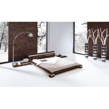 Pat din lemn masiv de fag Toma Frame nuc - Iti doresti un dormitor decorat in stil minimalist? Gaseste-ti inspiratia cu DecoStores! #ideiamenajari #mobiladormitor #dormitorminimalist #dormitormodern #DecoStores
