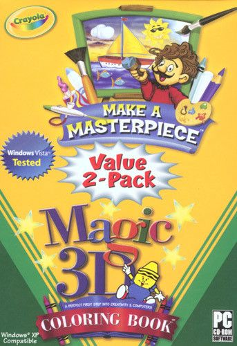 Crayola Make a Masterpiece / 3D Coloring Book Value 2-Pack