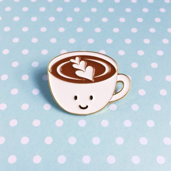 Give Me Coffee Enamel Pin Badge Gift Caffine Lover Coffee Cup Latte Cappuccino