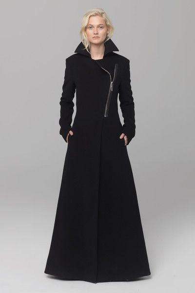 UNCONDITIONAL's AW14 long Black belted militray style coat