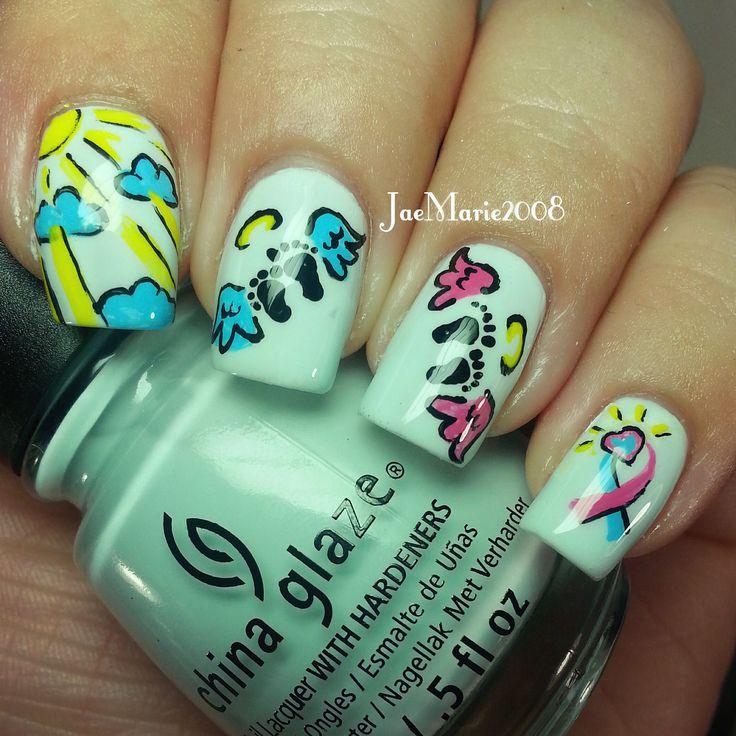 71 best Awareness Nails images on Pinterest | Infant loss awareness ...
