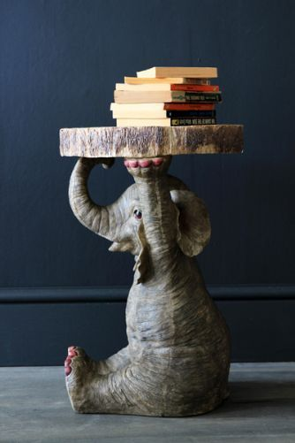 Elton the Elephant Side Table made of Resin from Rocket UK!