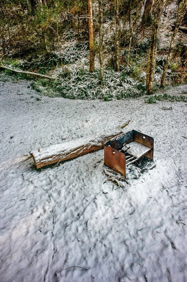 Snowfalls around Oberon. Photo: David Hill, Blue Mountains Lithgow & Oberon Tourism July 2014