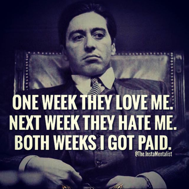I love The Godfather and this quote is kind of fitting even though I'm a teacher and definitely NOT a mobster! Ha!