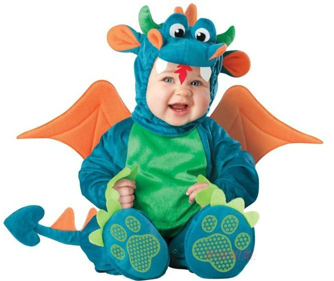 Triceratops Baby Infant Dragon / Dinosaur Romper Kids Onesie Suit Animal Cosplay Shapes Costume Child autumn winter Clothing $26.50
