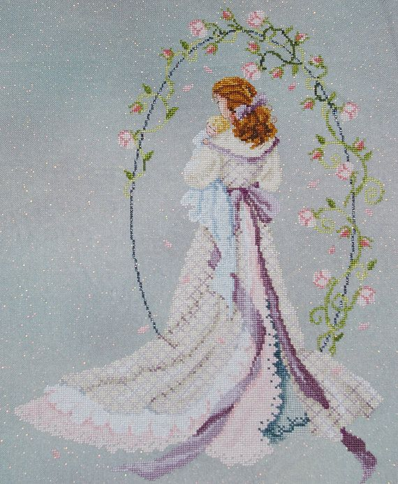 Mother and Baby Under The Arbor of Love by BlueTopazStitchery