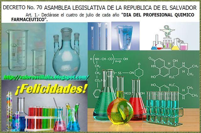 Valores morales y cívicos: Día del profesional químico farmacéutico