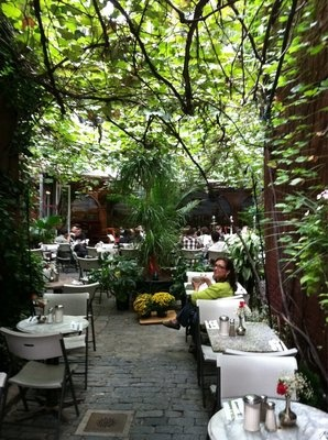 Cloister Cafe in the East Village. Still somehow have not had lunch in the garden.