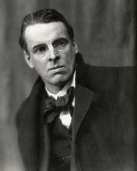Poet Yeats. Born William Butler Yeats 13 June 1865, Sandymount, Ireland. Died 28 January 1939, Menton, France