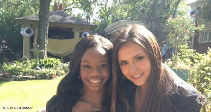 The Vampire Diaries News - 'Vampire Diaries' Stars Ian Somerhalder, Nina Dobrev Snap On-Set Pics With Olympian Gabby Douglas (PHOTOS) - Celebuzz