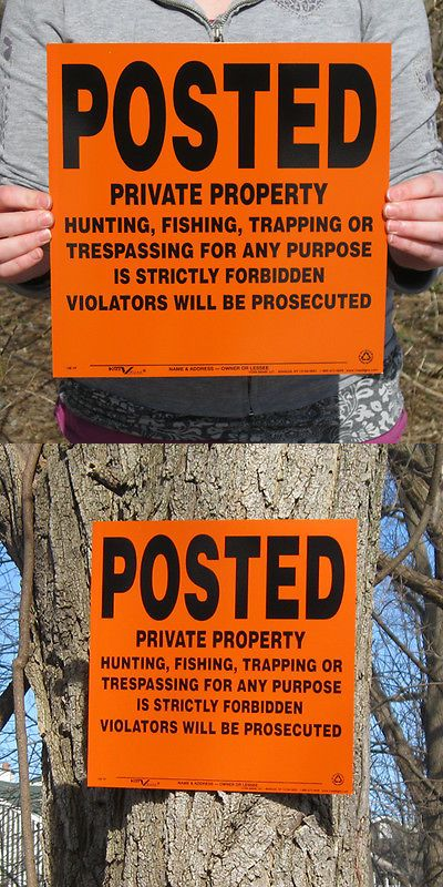 Trail Markers and Signs 177889: Lot Of 25 Orange Posted Private Property Hunting Signs -> BUY IT NOW ONLY: $37.25 on eBay!