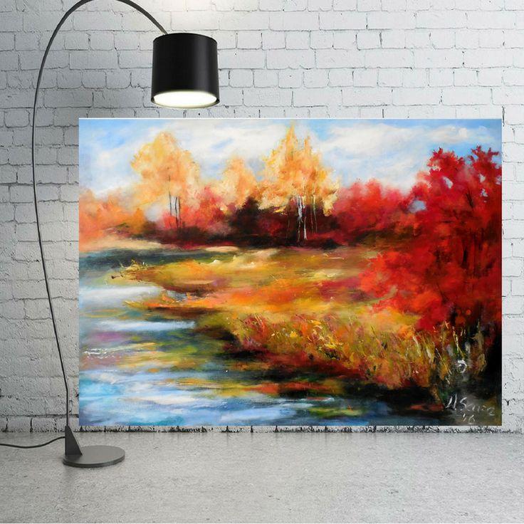 obraz olejny, jesień, malarstwo olejne,