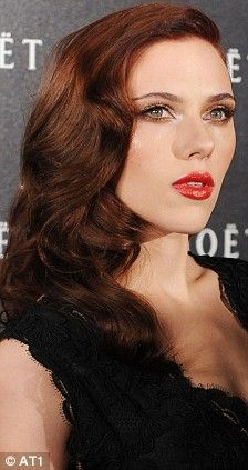 Scarlett johansson red hair magazine