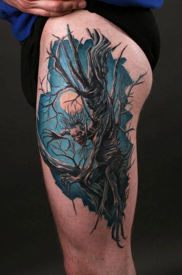 Fear Of The Dark http://tattooideas247.com/fear-of-the-dark/