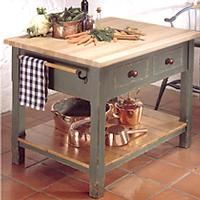 Work Table Kitchen Island | Chopping Block Table. Butcher ...