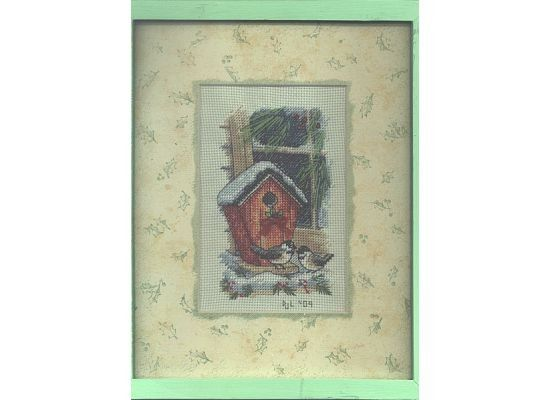 Completed Cross Stitch in Frame Chickadees on by dannileifer, $24.99