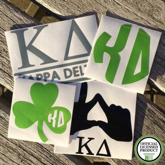 Kappa Delta Decals Sorority Stickers by TwinStarsbyPaige on Etsy