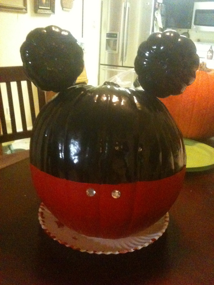 Pin by jannette hunt on mickey mouse disney party pinterest for How to paint a mickey mouse pumpkin