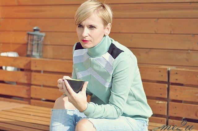 Układanka na bluzie/sweatshirt