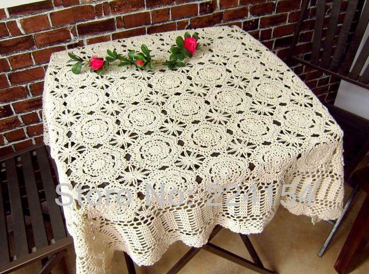 20 best square crochet tablecloth images on Pinterest | Crochet ...