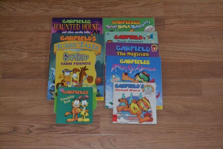 Garfield Picture Book lot of 9, Cartoon, Children's, School, Learning
