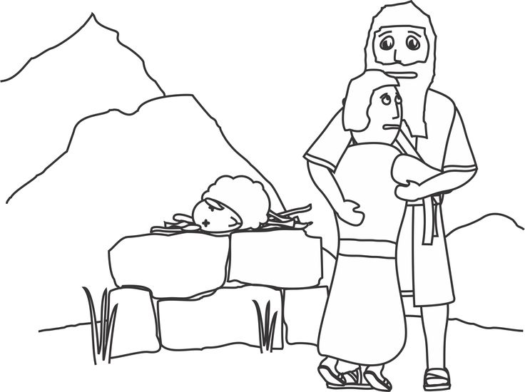 baby isaac bible coloring pages - photo#16