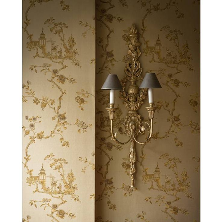 Stunning Cathay printed silk wallcovering - Beaumont & Fletcher,