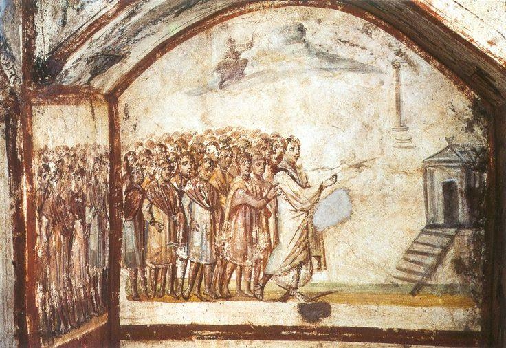 Resurrezione Lazzaro, Catacombe Via Latina
