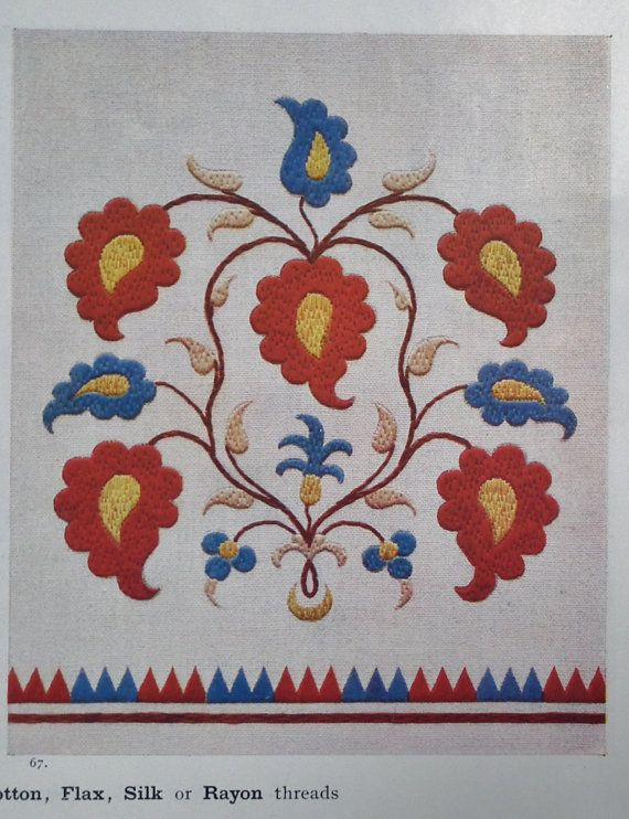 Vintage Embroidery Book 20s 50s Jugoslavian by sewmuchfrippery